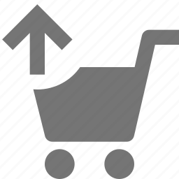 arrow, cart, shopping, up, upload icon