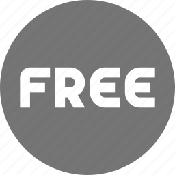 free, shopping, sign icon