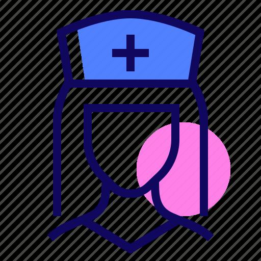 female, healthcare, medical, nurse icon