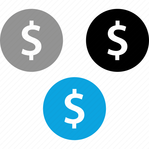 coins, dollar, pay, payment icon