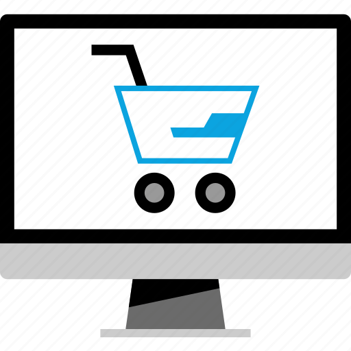 cart, computer, ecommerce, shopping icon