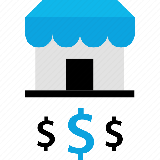 dollar, shop, store, store front icon