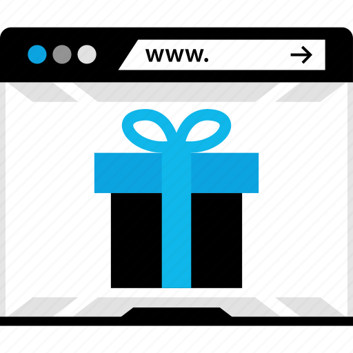 amazong, gift, web, www icon