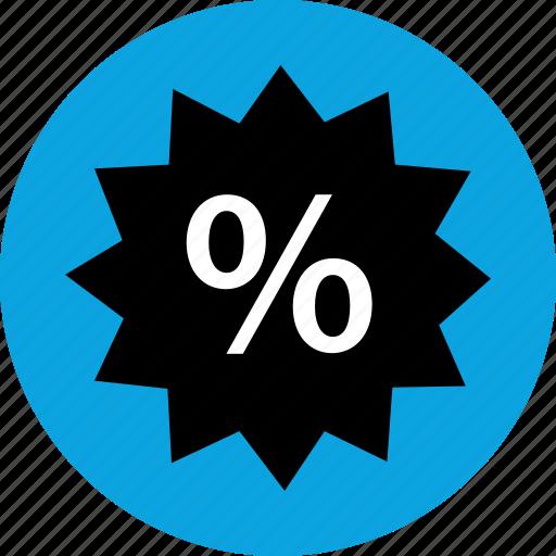 online, percentage, savings, shop icon