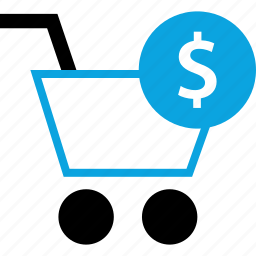 cart, dollar, payment, shop icon