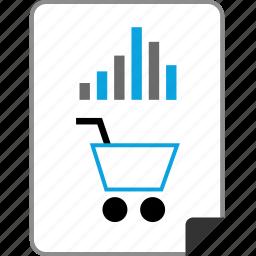 data, graph, online, report icon