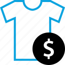 buy, dollar, ecommerce, tee icon