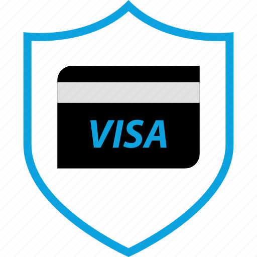 card, credit, secured, shield icon