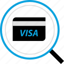 debit, payment, search, visa icon
