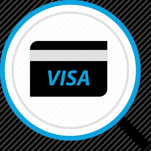 debit, payment, search, visa icon