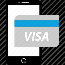 card, debit, payment, visa icon