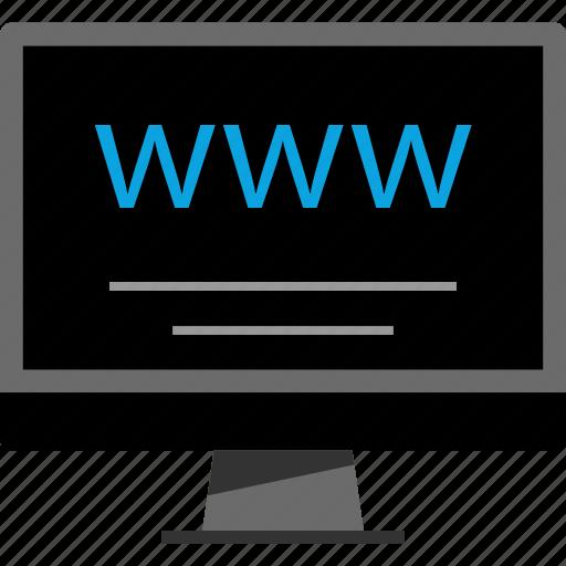 computer, internet, online, www icon