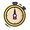 clock, stopwatch, timer, watch icon