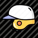 baseball, baseball helmet, helmet, sport icon