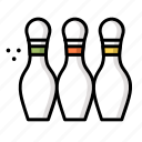 bowling, game, pins, sport, tenpin icon