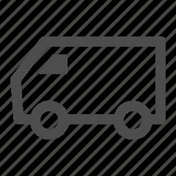 ecommerce, logistics, shipping, traffic, transportation, van, vehicle icon