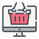 basket, buy, computer, online, product, shop, shopping icon