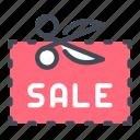 coupon, discount, sale, scissors, shop, shopping icon
