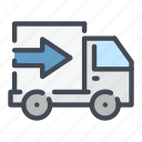 delivery, fast, shipping, truck, van icon