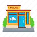 bakery, bake shop, bake house, pastry shop, bakeries, sweet shop