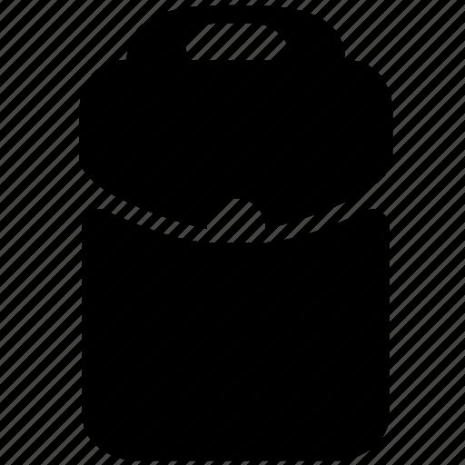 bag, item, shoulder, student icon