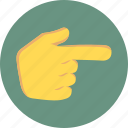 fingers, gesture, point finger, show icon