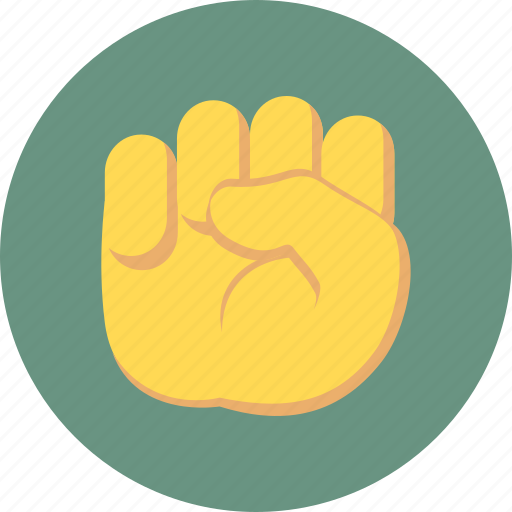 fist, gesture, power, strong icon