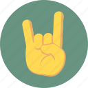 hand gesture, music gesture, rock and roll, rock on icon