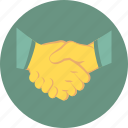 cooperation, deal, handshake, partnership icon