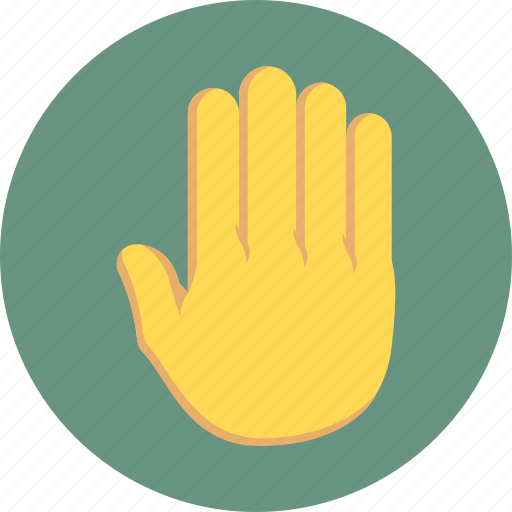 attention, hand sign, sign, stop icon