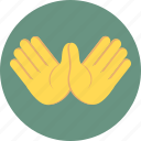 communication, gesture, hands, interaction icon