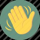 hand wave, hi, wave, waving