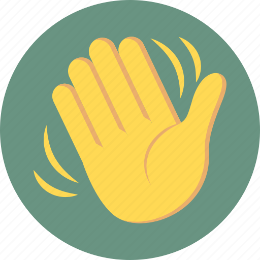 hand wave, hi, wave, waving icon