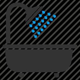 bath shower, bathroom, bathtub, cleaning, hygiene, wash, water icon