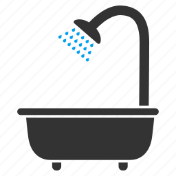 bath shower, bathroom, bathtub, cleaning, hygiene, wash, water icon