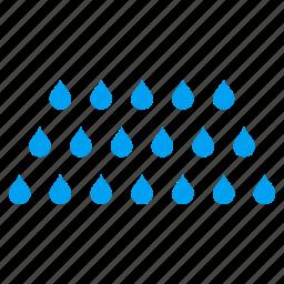 clean, drop, liquid spray, rain drops, shower, wash, water stream icon