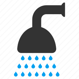 bath, clean, cleaning, disinfection, liquid stream, shower, water spray icon
