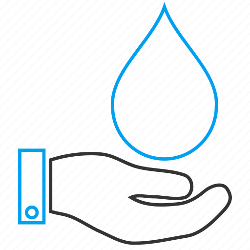ecology, environment, hand, liquid, palm, plumbing, water service icon