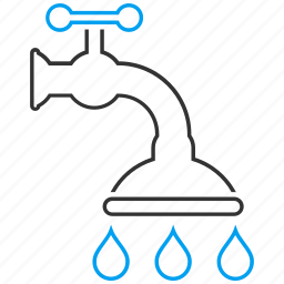 faucet, pipe, plumbing, shower, source, tap, water supply icon