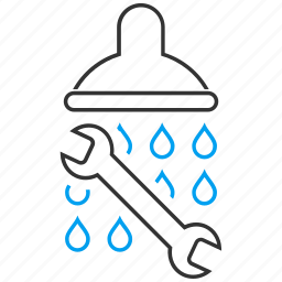 equipment, pipe, plumbing, repair, service, shower, water supply icon