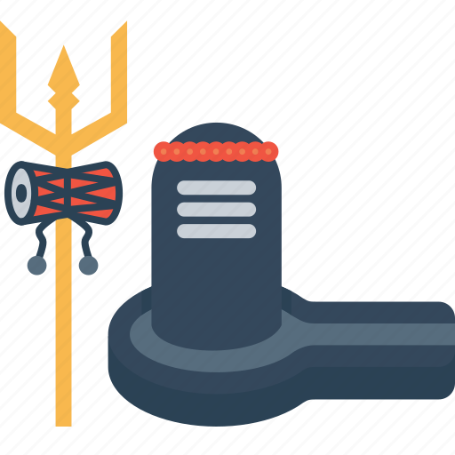 lingam, rudraksh, shivling, shravana, trident, trishula, weapon icon