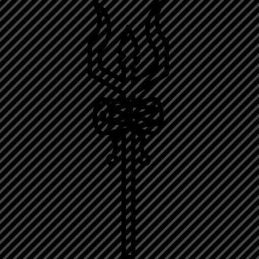 drum, mythology, shiva, spear, trident, trishula, weapon icon