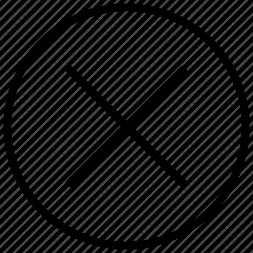 cancel, close, cross, delete, exit, remove, x icon