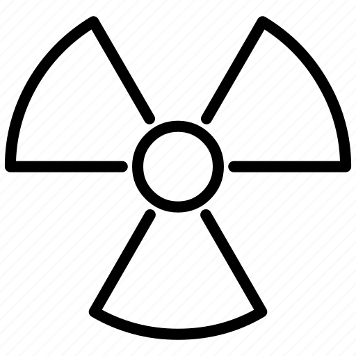 atom, atomic, danger, laboratory, labs, nuclear, radioactive, rediation, science, warning icon