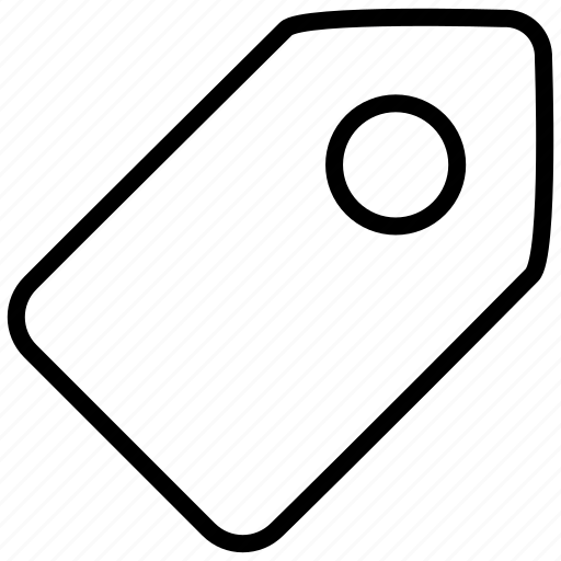 attachement, badge, label, mark, tag, ticket, token icon