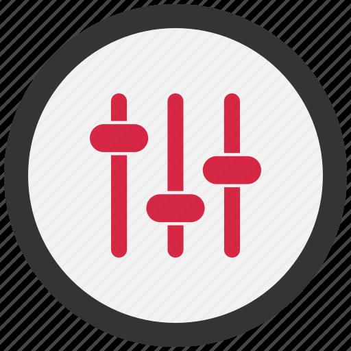 audio, control, controls, eq icon