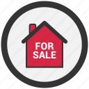 for sale, house, house for sale, real estate icon