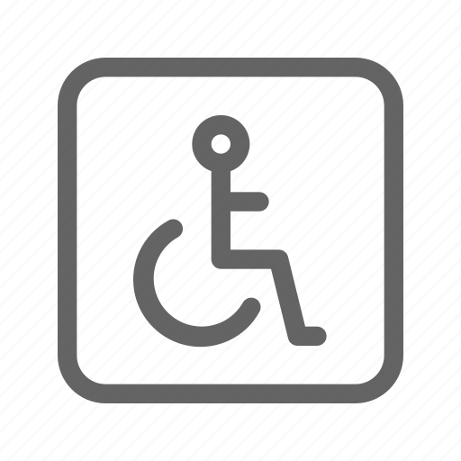 disability, disabled, sign icon