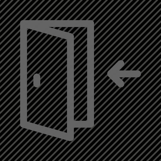 door, enter, login icon