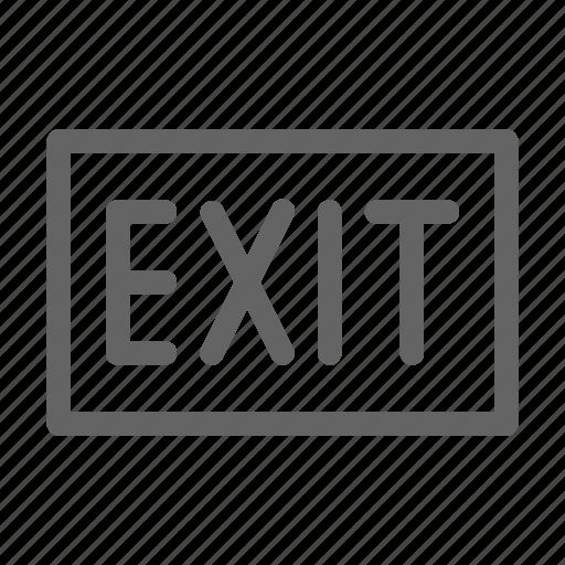 close, exit, sign icon